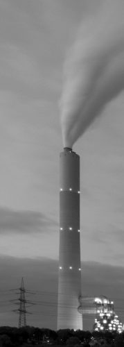 Coal fired power station smoke stack